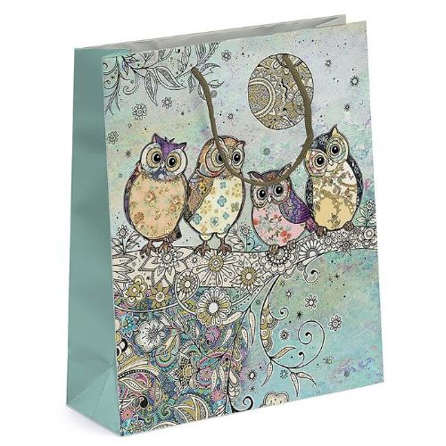 Bug Art Collection Four Owls Medium Gift Bag